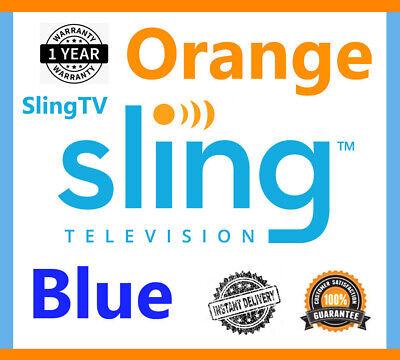 SlingTV Orange + Blue + Extra Services | 1 Year Warranty | (30s!) Delivery
