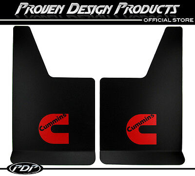 Dodge Ram 2500, Truck Mud Flaps Red Cummins Diesel, RAM - Dodge Truck Mud Flaps