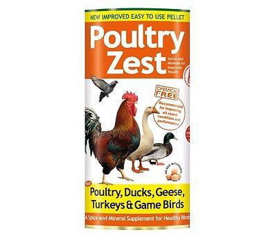 Verm-X Poultry Zest Health Supplement for Chickens, Ducks, Geese, Turkeys - 500g