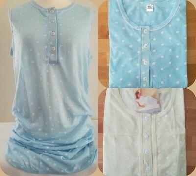 2 Pack Nachthemd (2er Pack  Damen Nachthemd Sleepshirt  ärmellos Baumwolle  M   L   XL   XXL  XXXL)