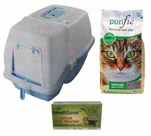 Cat Kitty Litter Tray Toilet & 30L Bag PURIFIE Cat Litter & Odour Brendale Pine Rivers Area Preview
