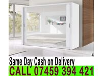 A 2 Door Sliding Mirrored Cabinet Wardrob- Brand New in Black Brown Oak White Walnut colours