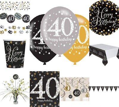 40. Geburtstag Dekoration mit der Zahl 40 Deko runder Geburtstag Party Tischdeko (40 Geburtstag Party Dekorationen)