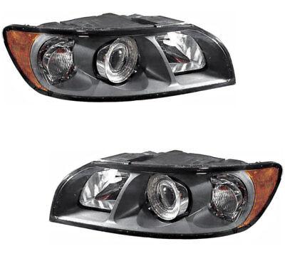 Volvo Headlight - Halogen Headlights Headlight Assembly w/Bulb NEW Pair Set for 04-07 Volvo S40