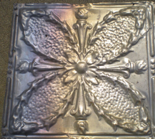 SALE Antique Victorian Gothic Ceiling Tin Torches Ancanthus Wreath Chic Fleur De