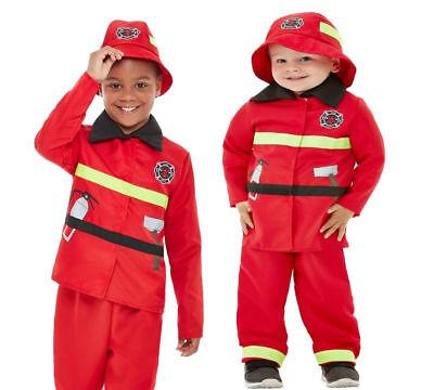 Jungen Feuerwehrmann Maskenkostüm Kinder Buchwoche Outfit Alter 3-9