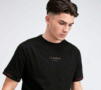 MENS IL SARTO DIEGO T-SHIRT BLACK/RED (SA2) RRP £34.99