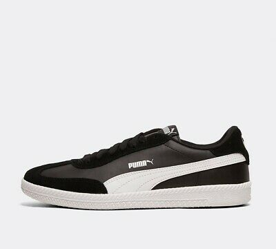 Mens Puma Astro Cup Leather/Suede Black/White Trainers RRP £54.99