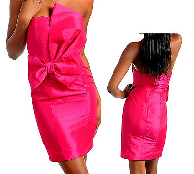 - Women Dress prom cluwear party bow front strapless tube sexy outfit