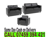 3+2 PU/Faux Leather SOFA SETs from £199 Brand New