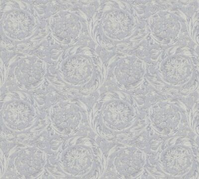 Versace 4 Home Wallpaper 366924 Ornament Grey Metallic Fleece Wallpaper