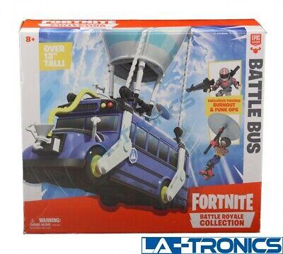 "NEW Fortnite Battle Royale Collection 13"" Battle Bus 2 Figures Burnout Funk Ops"