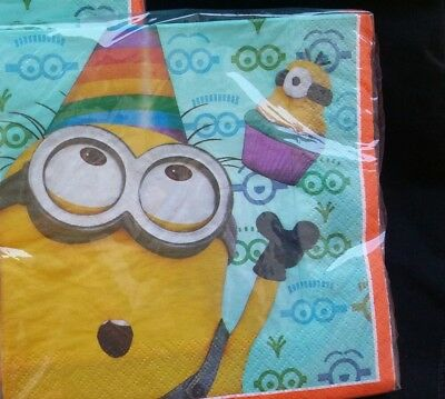 32 Despicable Me MENIONS Birthday NAPKINS, Party Supplies, child, Ships from USA