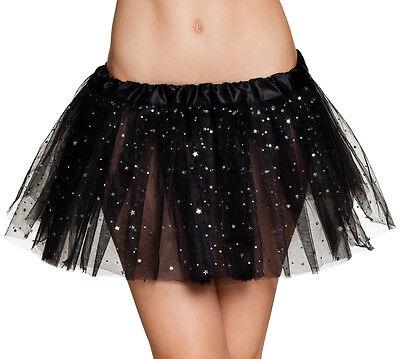 Shiny Star Tütü für Damen schwarz NEU - Zubehör Accessoire Karneval Fasching