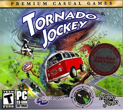 Computer Games - Tornado Jockey PC Games Windows 10 8 7 XP Computer destruction arcade kid NEW