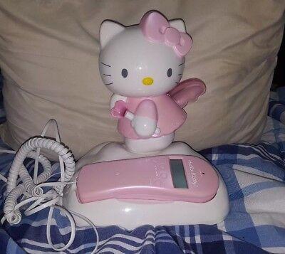 HELLO KITTY ANGEL KT2010 Phone Landline with Caller ID Light Up Wings Kawaii