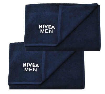 SET 2 x Nivea Men 50x90cm Sporthandtuch 100% Baumwolle Fitness Fitnesshandtuch