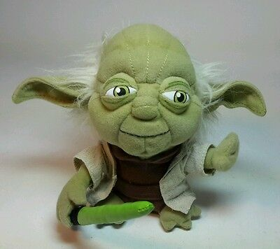 "6"" STAR WARS FORCE AWAKENS YODA PLUSH w/ LIGHTSABER - NO TAGS"
