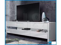 NEW IN BOX FOX TV UNIT [WHITE/WHITE GLOSS