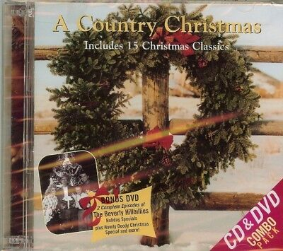 A COUNTRY CHRISTMAS - VARIOUS ARTISTS - CD & DVD - NEW - SEALED
