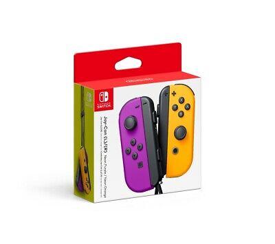 Nintendo Switch Joy-Con Pair, Neon Purple and Neon Orange