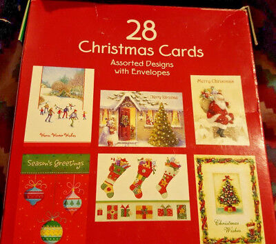 28 NW CHRISTMAS CARDS Assorted designs W/ ENVELOPES cute sayings by PAPER MAGIC - Christmas Cards Sayings