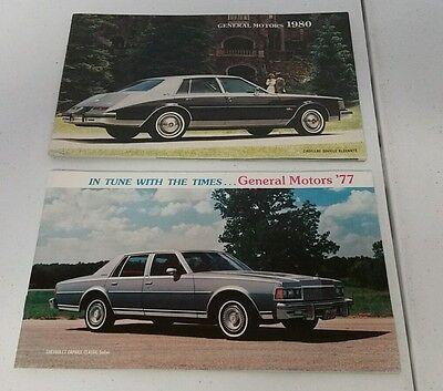 GM General Motors 1977/1980 Annual Dealer New Model Booklets Brochures RARE EUC