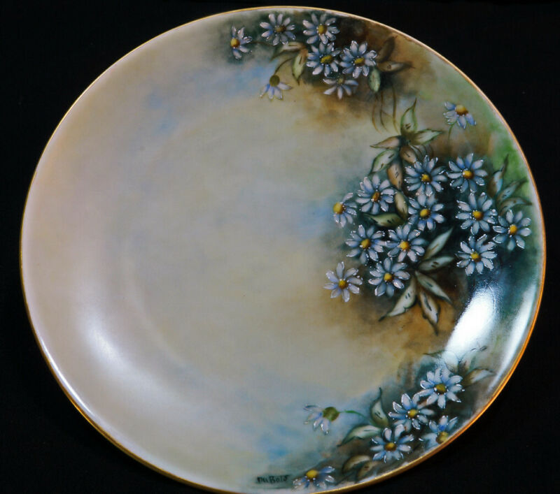 Vintage, 1940-1950, Signed Hand Painted, Decorative Floral Pattern Plate