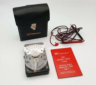 Ttt Triplett Vom Volt Ohm Meter Model 310c Type 3 3022 In Original Box