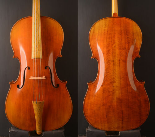 "A ""Baroque Style""  Cello Oil varnish! inlaid Maple Fingerboar​d & Tailpiece!"