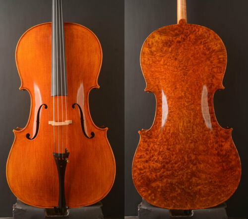 Amazing!A MOST MATURE Stradivari cello!Birdeye maple cello, best tone
