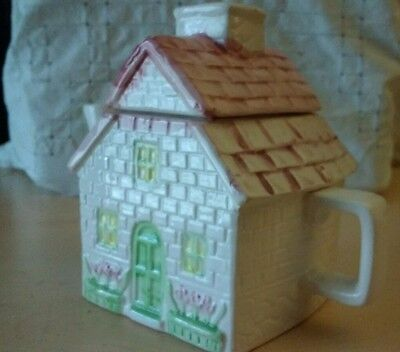 Vintage cottage teapot, cute as a button, amazing detail.
