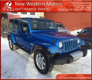 2015 Jeep WRANGLER UNLIMITED Sahara NAVI! REMOTE START!