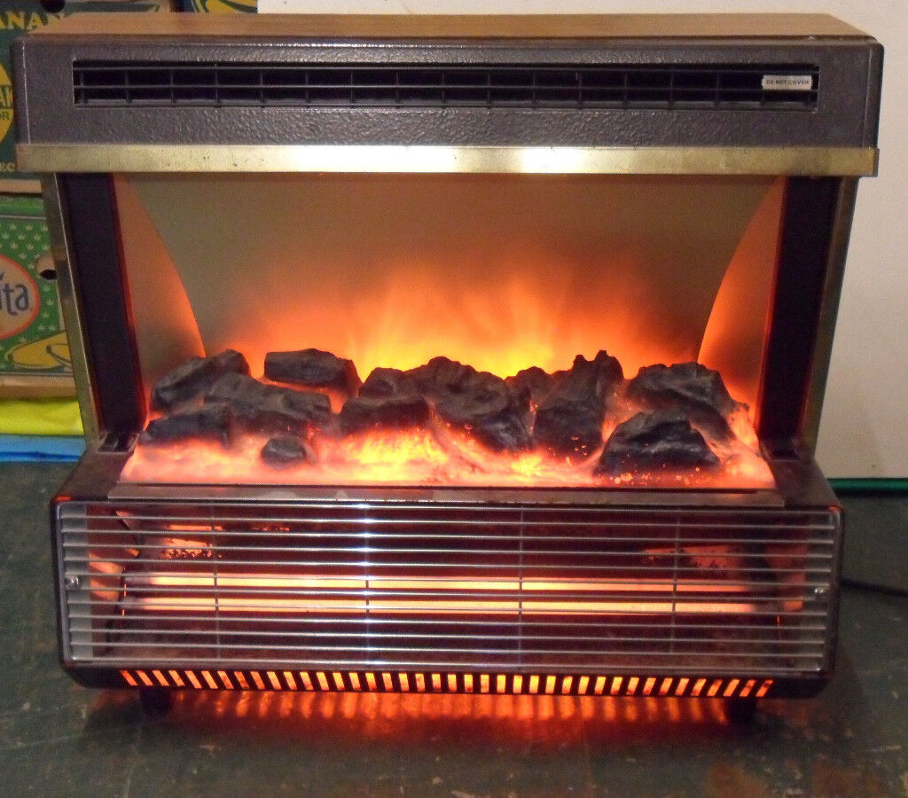 Two Bar Electric Fire Heater Radiant Coal Effect Vintage Berry 474 Berrywarm