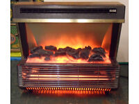 Two Bar Electric Fire Heater - Radiant - Coal-effect - Vintage Berry 474 Berrywarm Magicoal - Retro