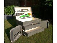 Tool box chest vintage retro storage garage workshop shed