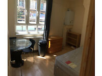 Twin nice single room available now in clean flat, 5min walk to Hammersmith Station