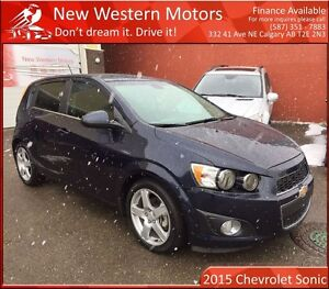 2015 Chevrolet Sonic LT TURBO/HAIL SALE/HEATED SEATS/SUNROOF!