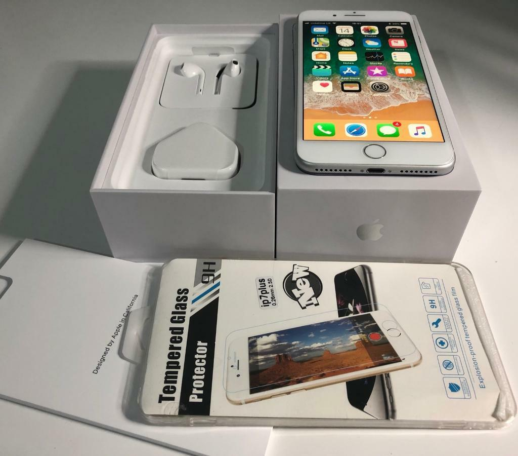 iphone 8plus 64GB white colour, lock on Vodafone, lebara UK network!