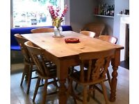 Rusting Wooden Kitchen Table and chairs
