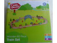 Chad Valley Wooden Train Set x 60 Pcs
