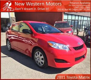 2011 Toyota Matrix ONE OWNER! LOW KM! REMOTE START!