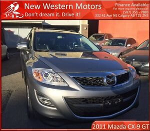 2011 Mazda CX-9 GT LOW KM/NAVI/B.CAM/DVD/LEATHER/AWD!