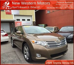 2009 Toyota Venza V6/Leather/Sunroof/Alloy Rims/LOW KM!