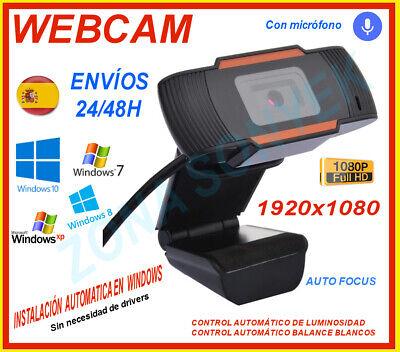 WEBCAM 1080p. USB + micrófono. 1920x1080p. Envios 24/48h. Oferta Navidad