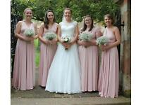 Four Beautiful Blush Pink Infinity Dresses