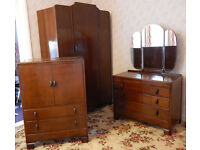 VINTAGE WARDROBE, DRESSING TABLE AND CUPBOARD