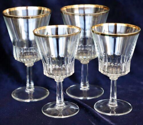 Vintage Retro Set of 18 Gold rim glasses Finelsa of Spain 60s 70s