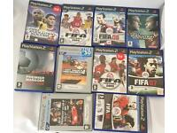 10x PlayStation2 sport games In very good condition