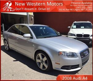 2008 Audi A4 2.0T S line ACCIDENT FREE! SUNROOF! LEATHER!